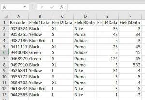 capture warehouse data